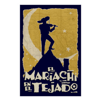 Mariachi on the Roof Poster