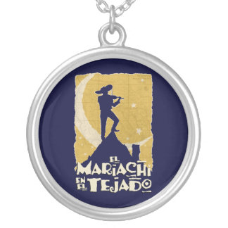 Mariachi on the Roof Round Pendant Necklace