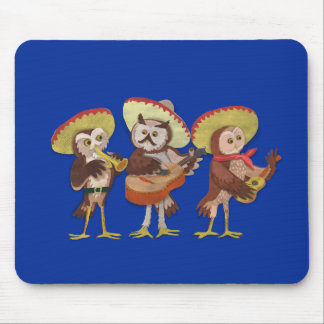Mariachi Owl band Mouse Pad