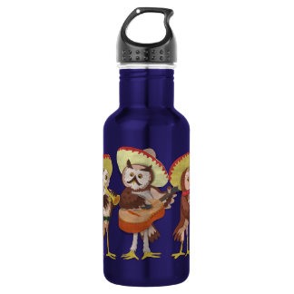 Mariachi Owl band Stainless Steel Water Bottle