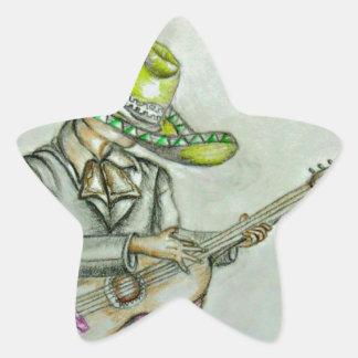 mariachi pegatina en forma de estrella