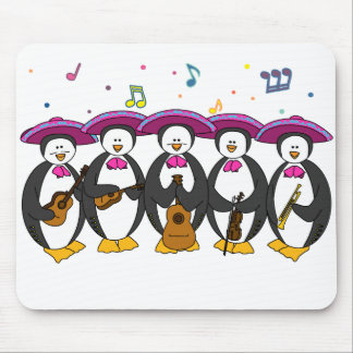 mariachi penguins mouse pad