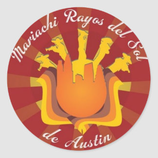 Mariachi Rayos de Sol de Austin Pegatina Redonda