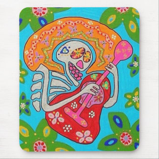 Mariachi Serenade - Day Of The Dead Skeleton Mouse Pad