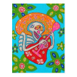 Mariachi Serenade - Day Of The Dead Skeleton Post Cards