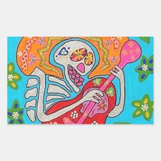 Mariachi Serenade - Day Of The Dead Skeleton Sticker
