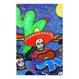 MARIACHI SIESTA DAY OF THE DEAD STATIONERY