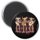 Mariachi Skeleton Trio Fridge Magnets