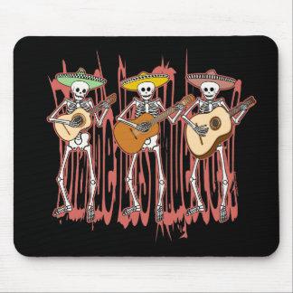 Mariachi Skeleton Trio Mousepad