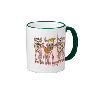 Mariachi Skeleton Trio Coffee Mugs