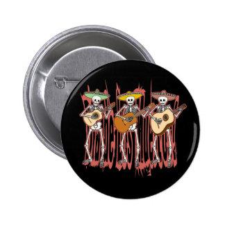 Mariachi Skeleton Trio Pinback Button