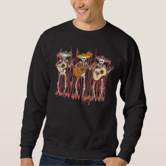 Mariachi Skeleton Trio Pullover Sweatshirt