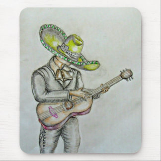 Mariachi with guitar mouse pad