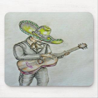 Mariachi with guitar mousepads