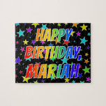 "[ Thumbnail: ""Mariah"" First Name, Fun ""Happy Birthday"" Jigsaw Puzzle ]"