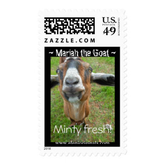 Mariah the Goat postage