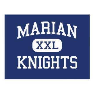 Marian - Knights - High School - Mishawaka Indiana Post Card