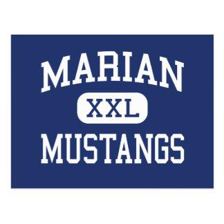 Marian - Mustangs - High - Bloomfield Hills Postcard