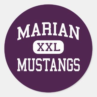 Marian - Mustangs - High - Framingham Classic Round Sticker