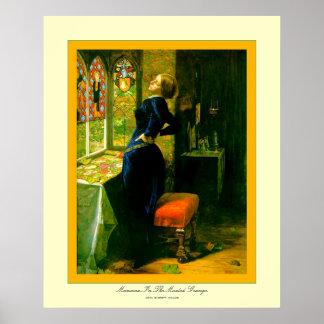 Mariana en el Grange~John Moated Everett Millais Póster