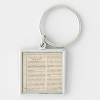 Mariana Islands Oceania no 2 Silver-Colored Square Keychain