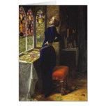 Mariana, John Everett Millais, 1851 Tarjeton
