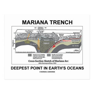 Mariana Trench Deepest Point In Earth's Oceans Postcard