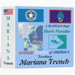 Mariana Trench: Shark Paradise, U.S.A. Territory 3 Ring Binders