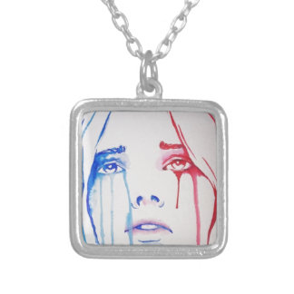 Marianne in tears silver plated necklace