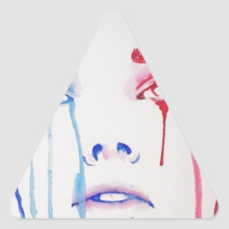 Marianne in tears triangle sticker