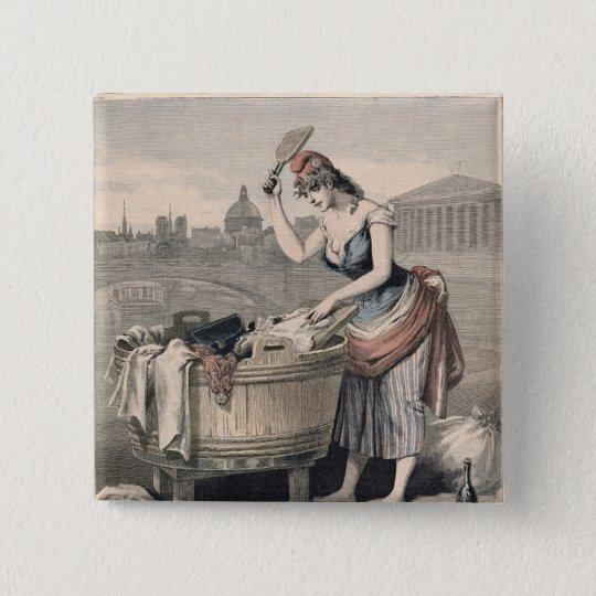 Marianne the Queen of the Washerwomen Button