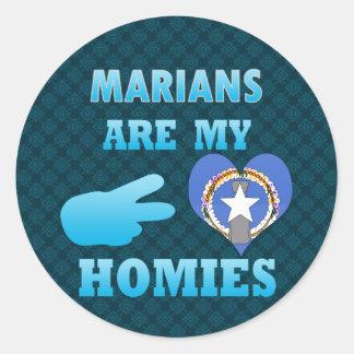 Marians es mi Homies Pegatina Redonda