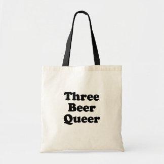 Maricón de tres cervezas bolsa lienzo