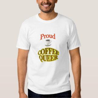 Maricón orgulloso del café remeras