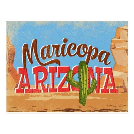 Maricopa Arizona Vintage Travel Postcard