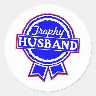 Marido #002 del trofeo pegatina redonda