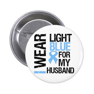 Marido azul claro de la cinta del cáncer de prósta pin redondo 5 cm