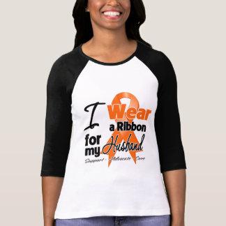 Marido - cinta de la leucemia camiseta
