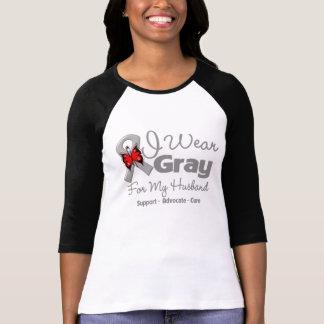 Marido - conciencia gris de la cinta camisetas