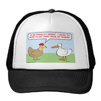 marido cruzado del camino del pollo gorra