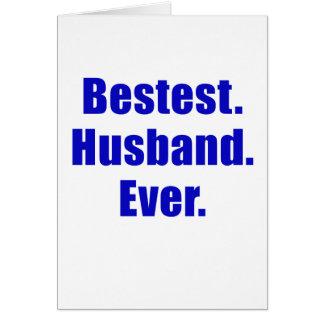 Marido de Bestest nunca Tarjeta De Felicitación