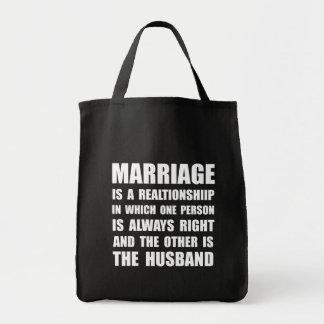 Marido de la boda bolsa tela para la compra