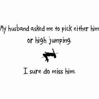 Marido de la selección o alto salto escultura fotográfica