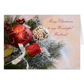 Marido de las Felices Navidad Tarjeta De Felicitación