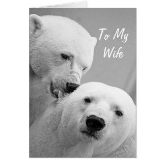 Marido de los osos polares a la tarjeta del