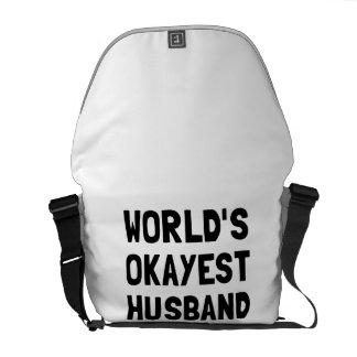 Marido de Okayest de los mundos Bolsas De Mensajeria