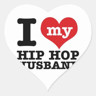 Marido del hip-hop calcomania de corazon personalizadas