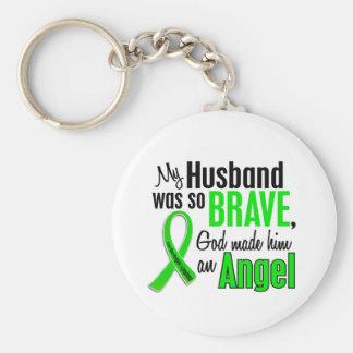 Marido del linfoma Non-Hodgkin del ángel 1 Llavero Redondo Tipo Pin