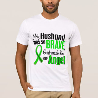 Marido del linfoma Non-Hodgkin del ángel 1 Playera