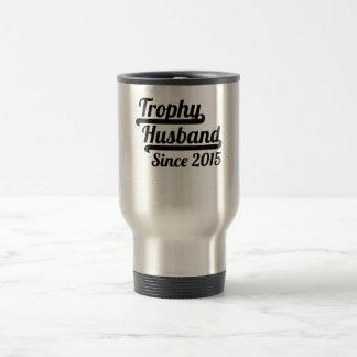 Marido del trofeo desde 2015 taza térmica